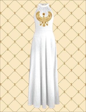 Image of NSC Gold HRU White Off Shoulder Elegant Maxi Long Dress