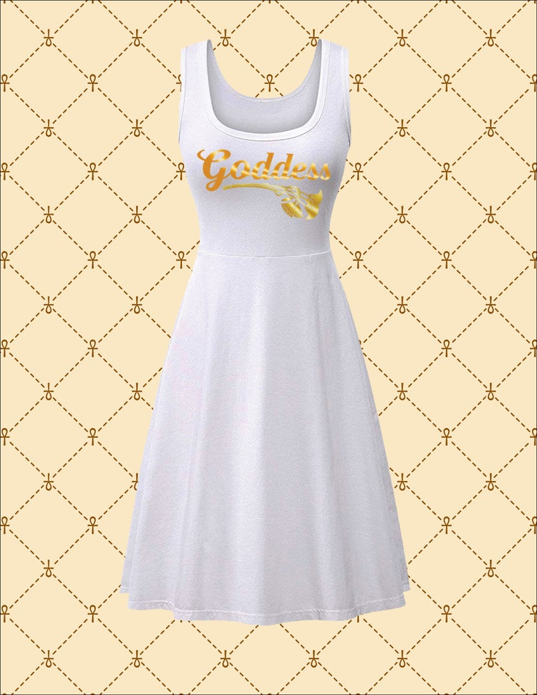 Image of NSC Goddess White Midi Dress Casual Tank Dress