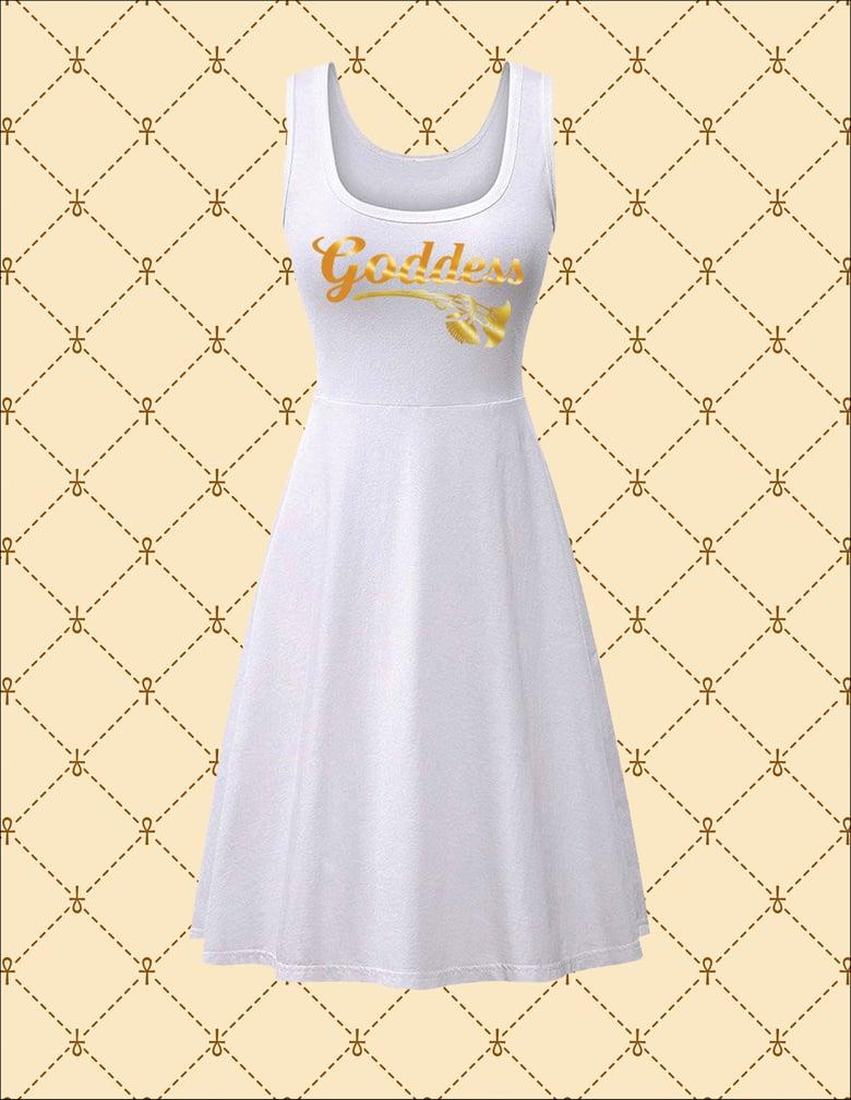 Image of NSC Goddess White Midi Dress Casual Tank Dress