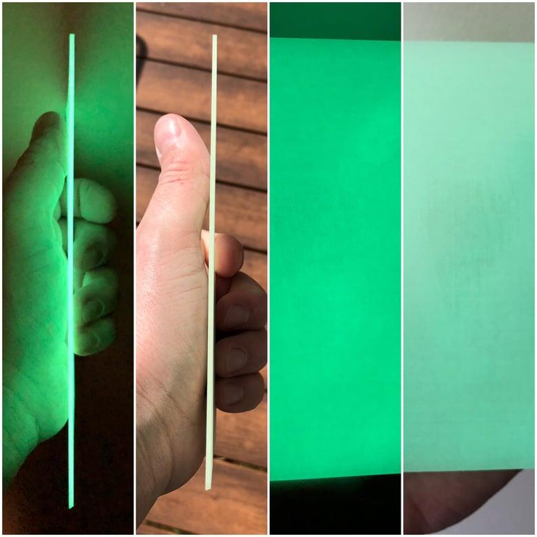 """Image of Jade Day/Green Glow ShokRes 0.062"""" x 4"""" x 6"""""""