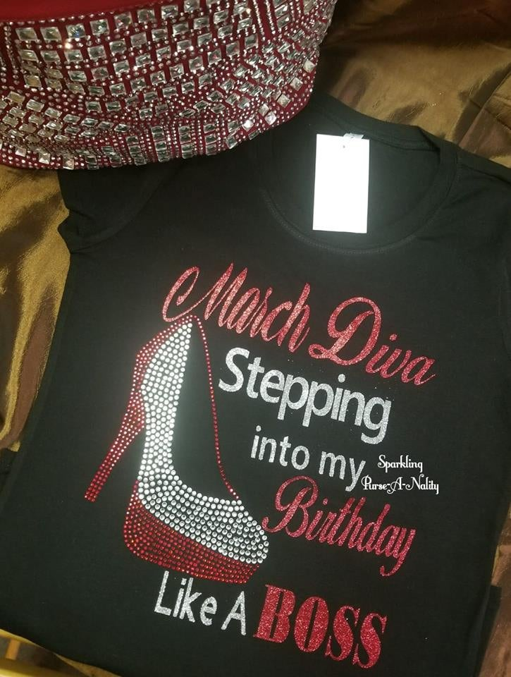 "Image of ""Sparkling"" Birthday Like A Boss Shirt"
