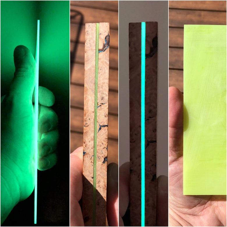 "Image of Yellow Day/Green Glow ShokRes Liner Sheet .0625"" x 4"" x 6"""