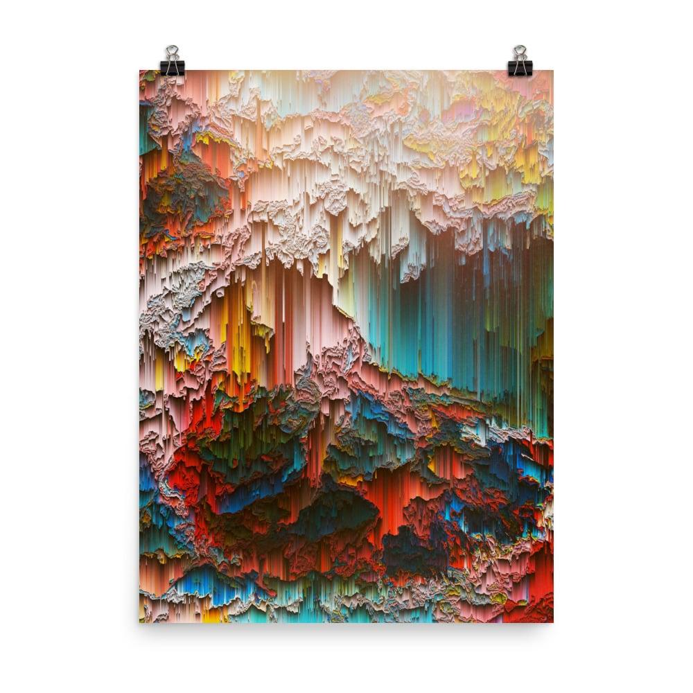Sun in The Caverns Art Print