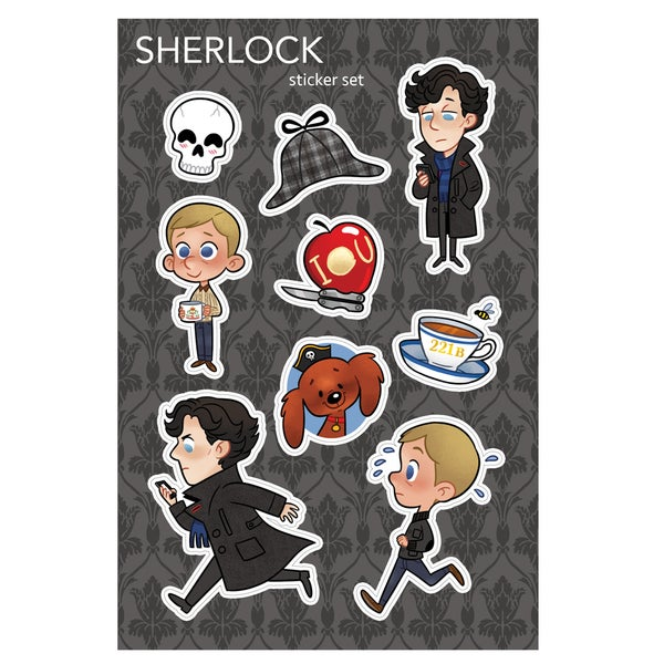 Image of Sherlock Sticker Sheet