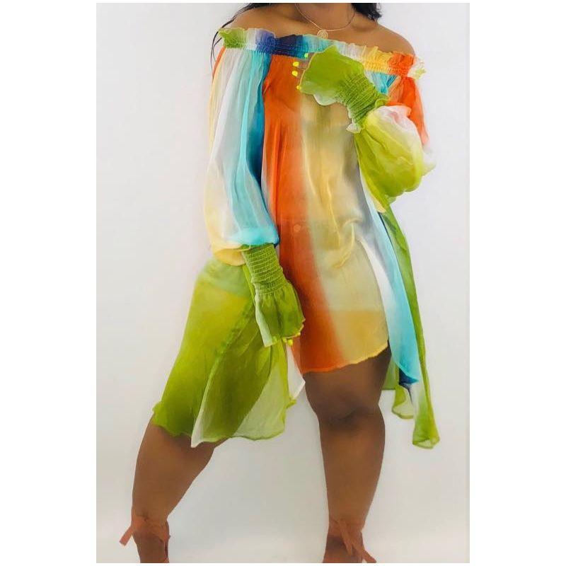 Image of Green multicolored Dress