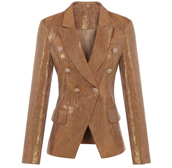 Image of Military Blazer - Gold