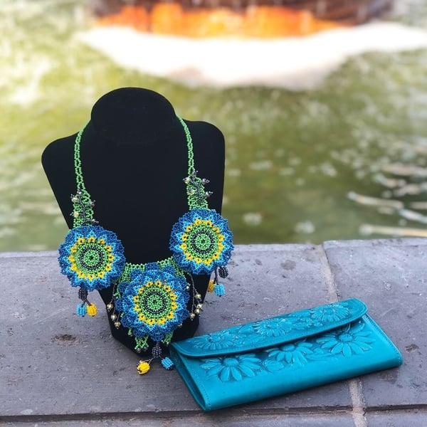 Image of Blue Guichol Necklace