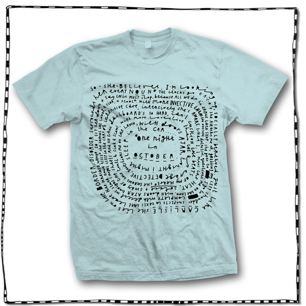 Image of ONE NIGHT IN OCTOBER SPIRAL T-SHIRT