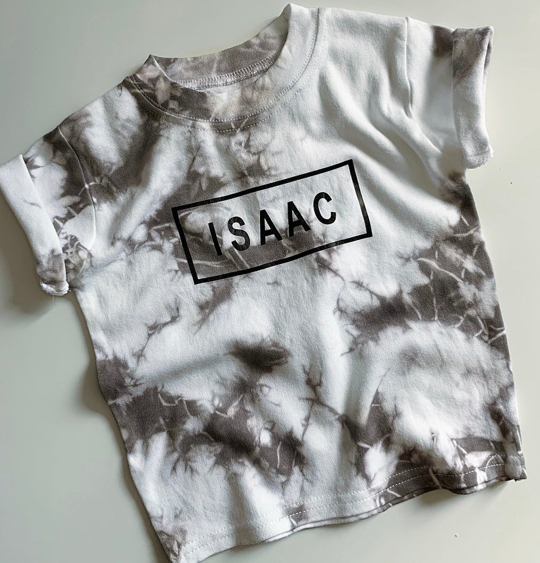 Image of Personalised Tye Dye Tee