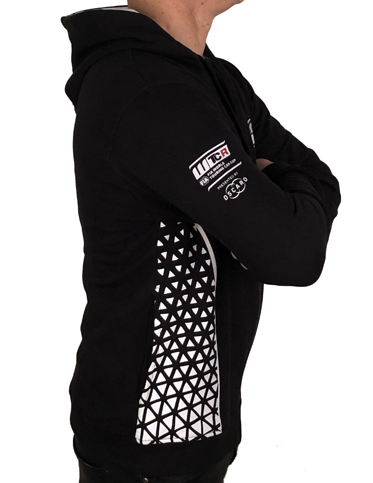 "Image of 2018's WTCR Men´s ""Racing""  Hoodie Black"