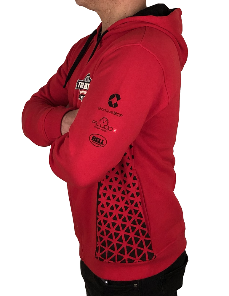 "Image of 2018's WTCR Men´s ""Racing""  Hoodie Red"