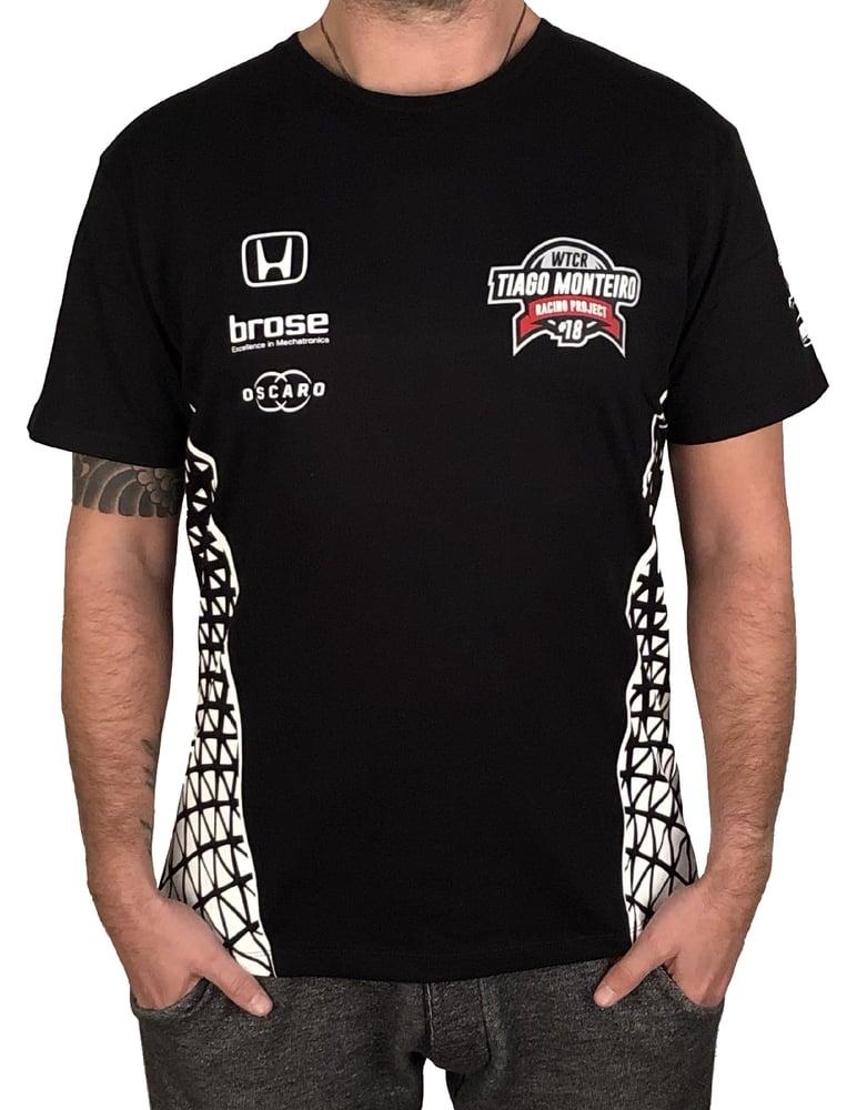 "Image of 2018's WTCR Men´s ""Racing""  T-Shirt Black"