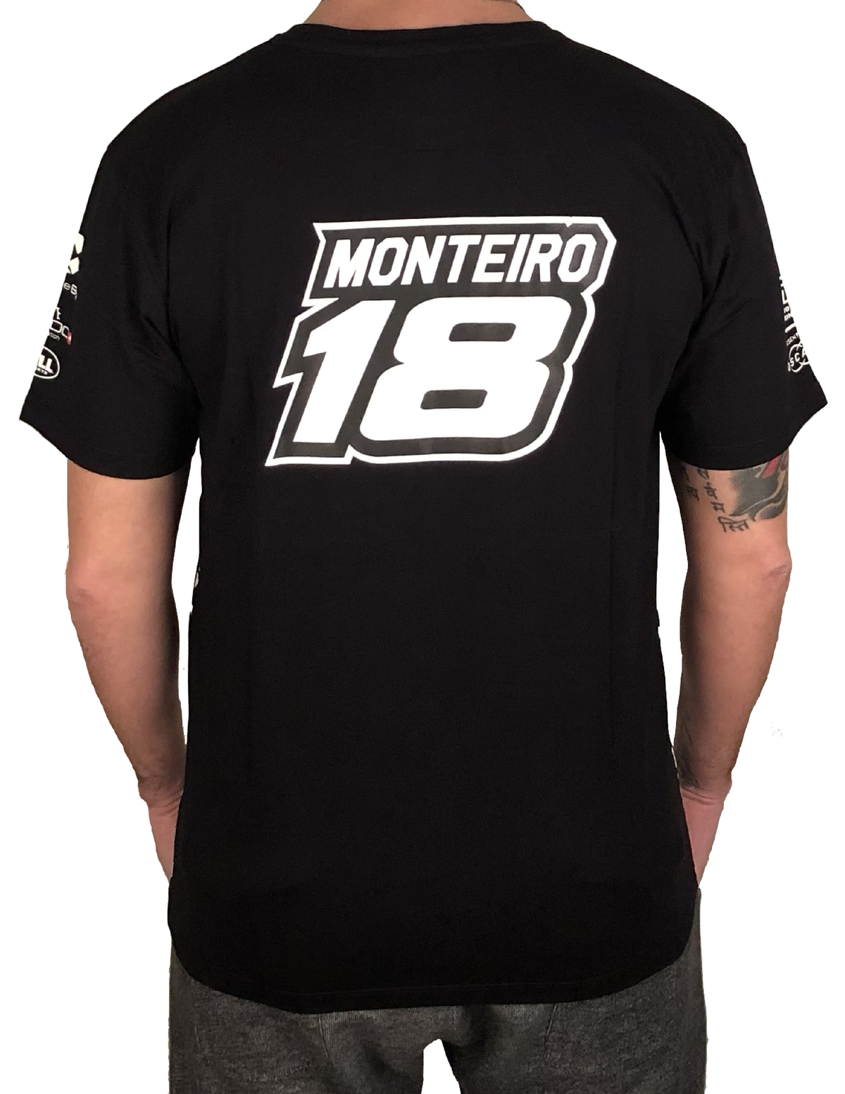 "Image of 2018's WTCR Men´s ""Racing""  T-Shirt Black"