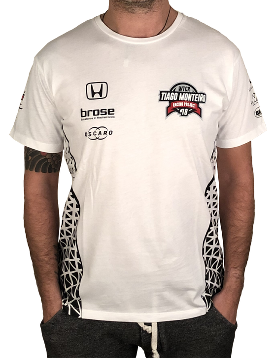"Image of 2018's WTCR Men´s ""Racing""  T-Shirt White"
