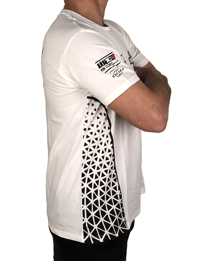 """Image of 2018's WTCR Men´s """"Racing""""  T-Shirt White"""