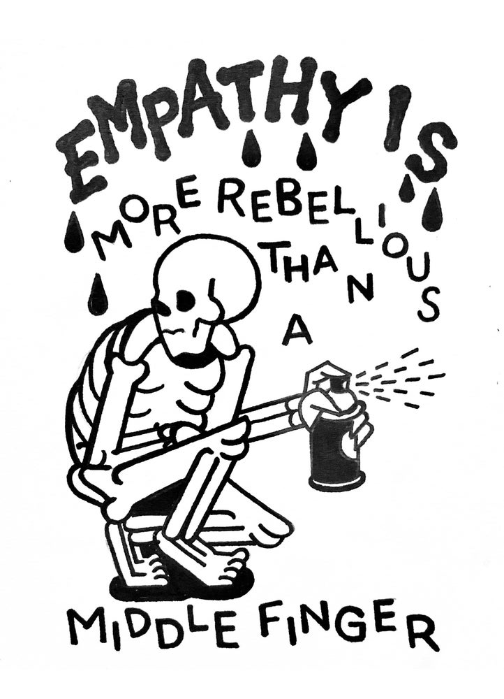 Image of EMPATHY Limited 11x17 risograph print