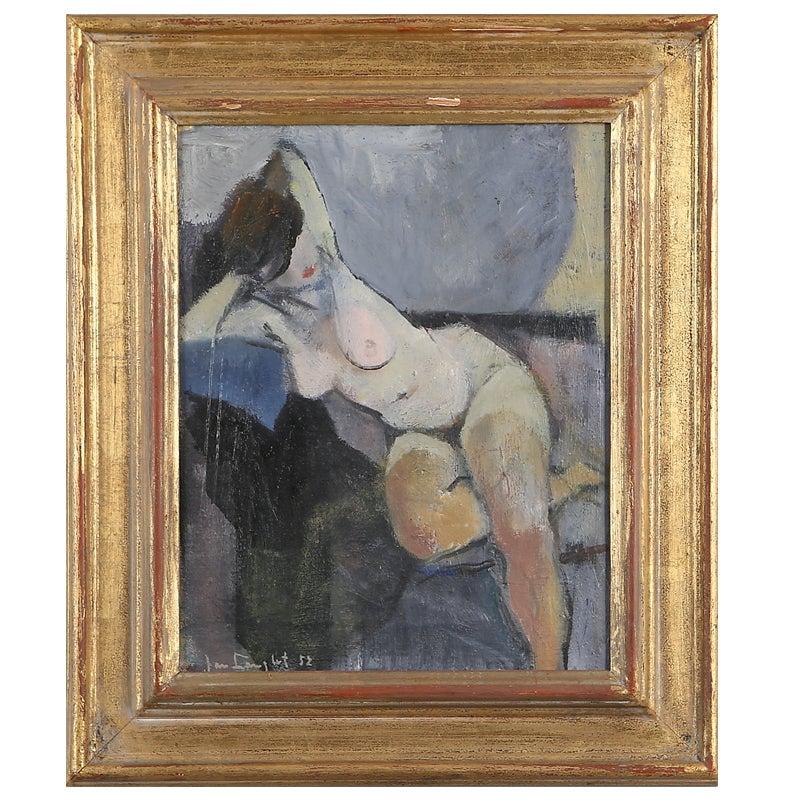 Image of 1952, 'Blue Nude,' Jan Langlet