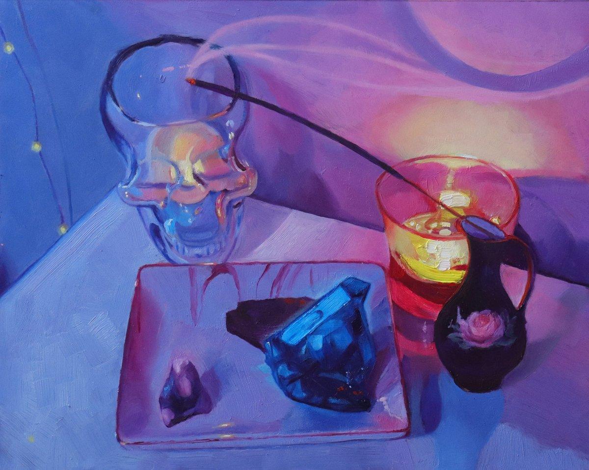 Image of Glass Skull Still-life