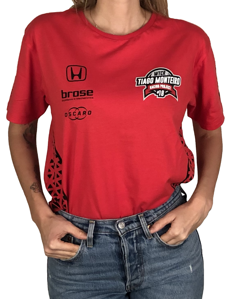 "Image of 2018's WTCR Men´s ""Racing"" T-Shirt Red"