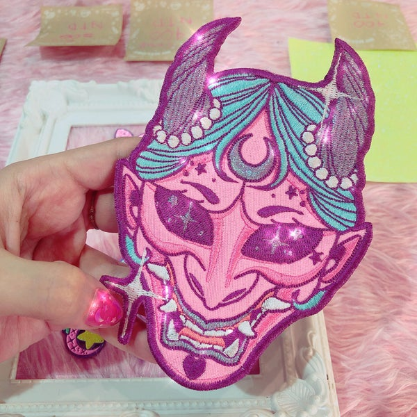 Image of KAWAII HANNYA 👹 IRON PATCH