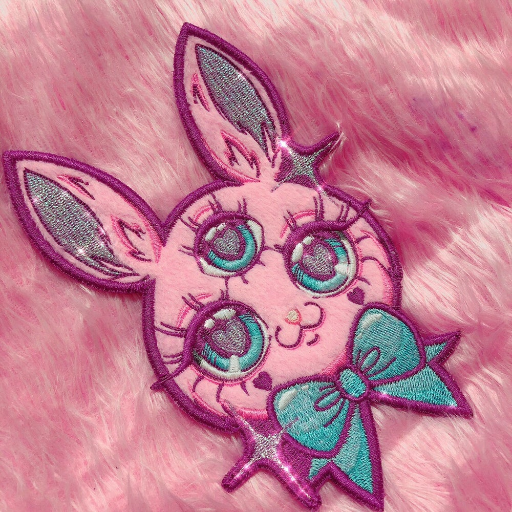 Image of THREE EYED BUNNY 🐰 IRON PATCH