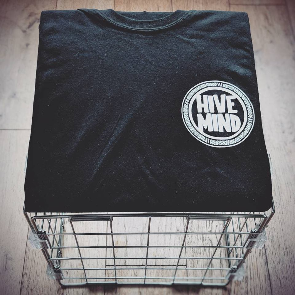 Image of Hivemind Logo Black T-shirt
