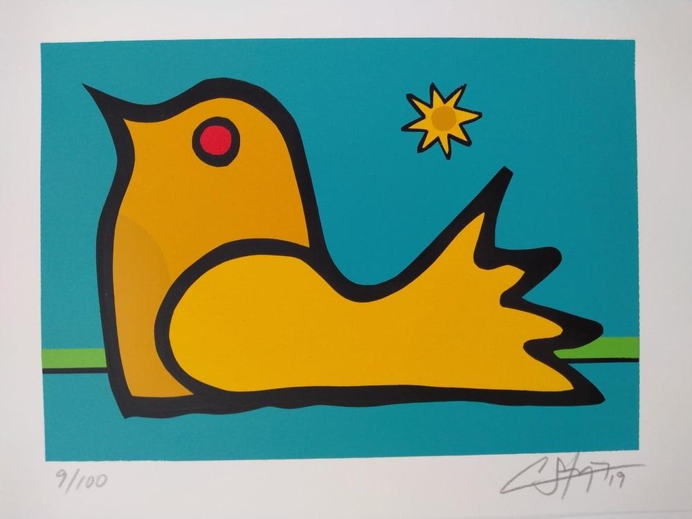 "Image of ""Like A Bird In The Water"" (Silkscreen Print)"