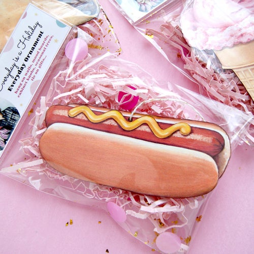 Image of Hot Dog everyday ornament
