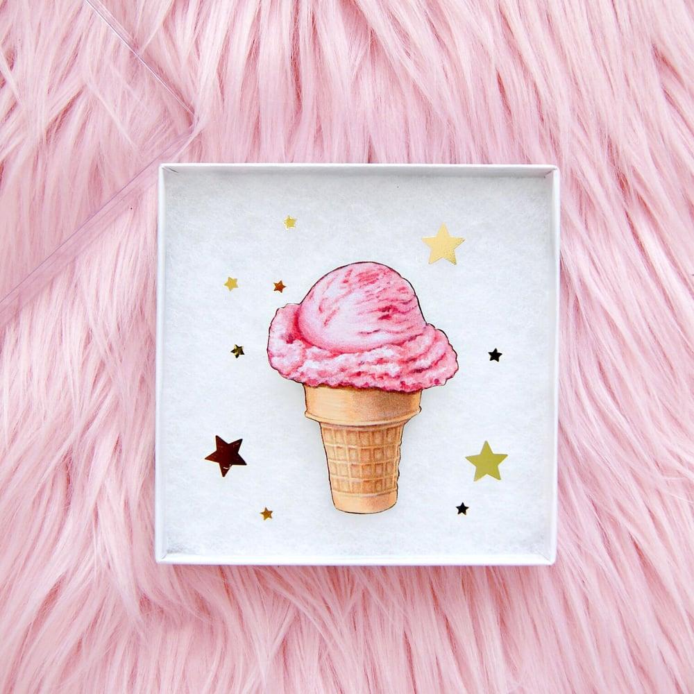 Image of Ice cream cone pin