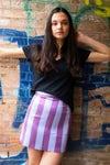 Stripes silk skirt