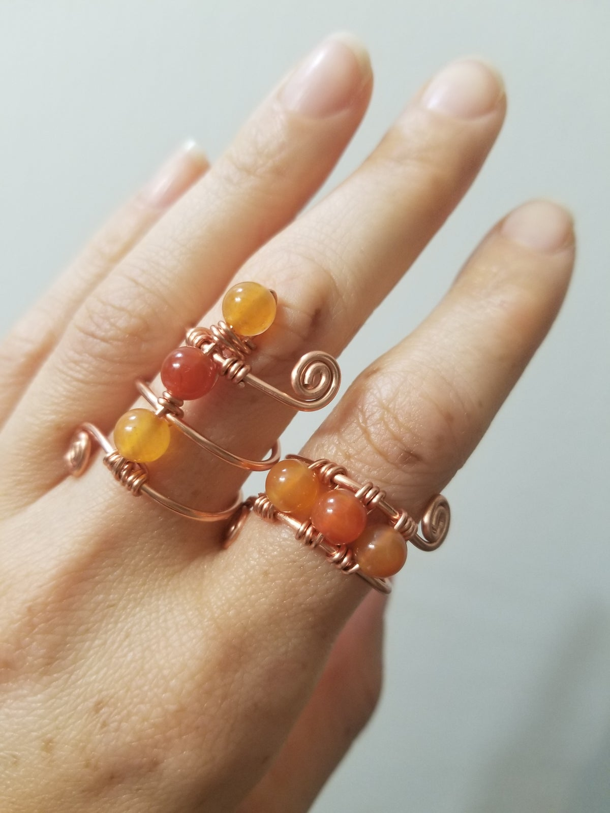 Image of Carnelian bead ring