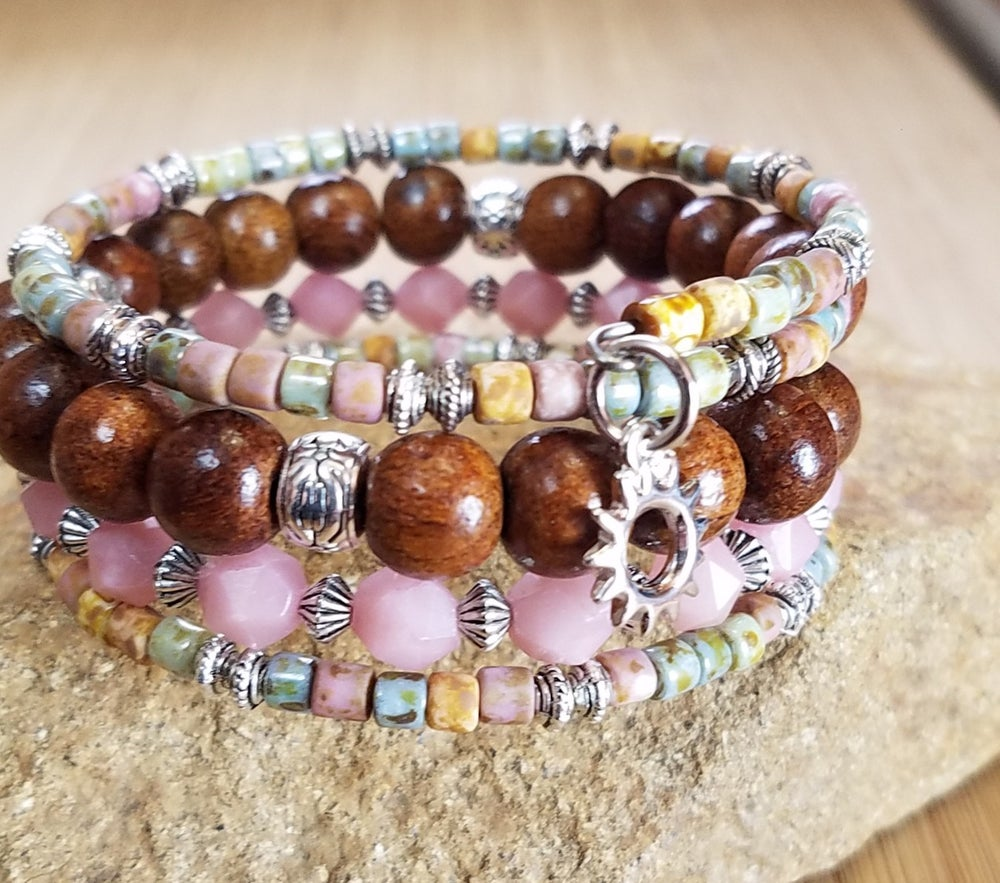 Image of Pink Opal Stacking Bracelet