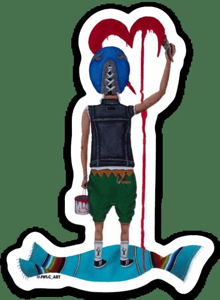 """Image of Die Cut Sticker - """"El Enmascarado"""""""