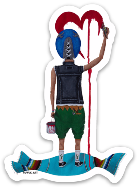 "Image of Die Cut Sticker - ""El Enmascarado"""