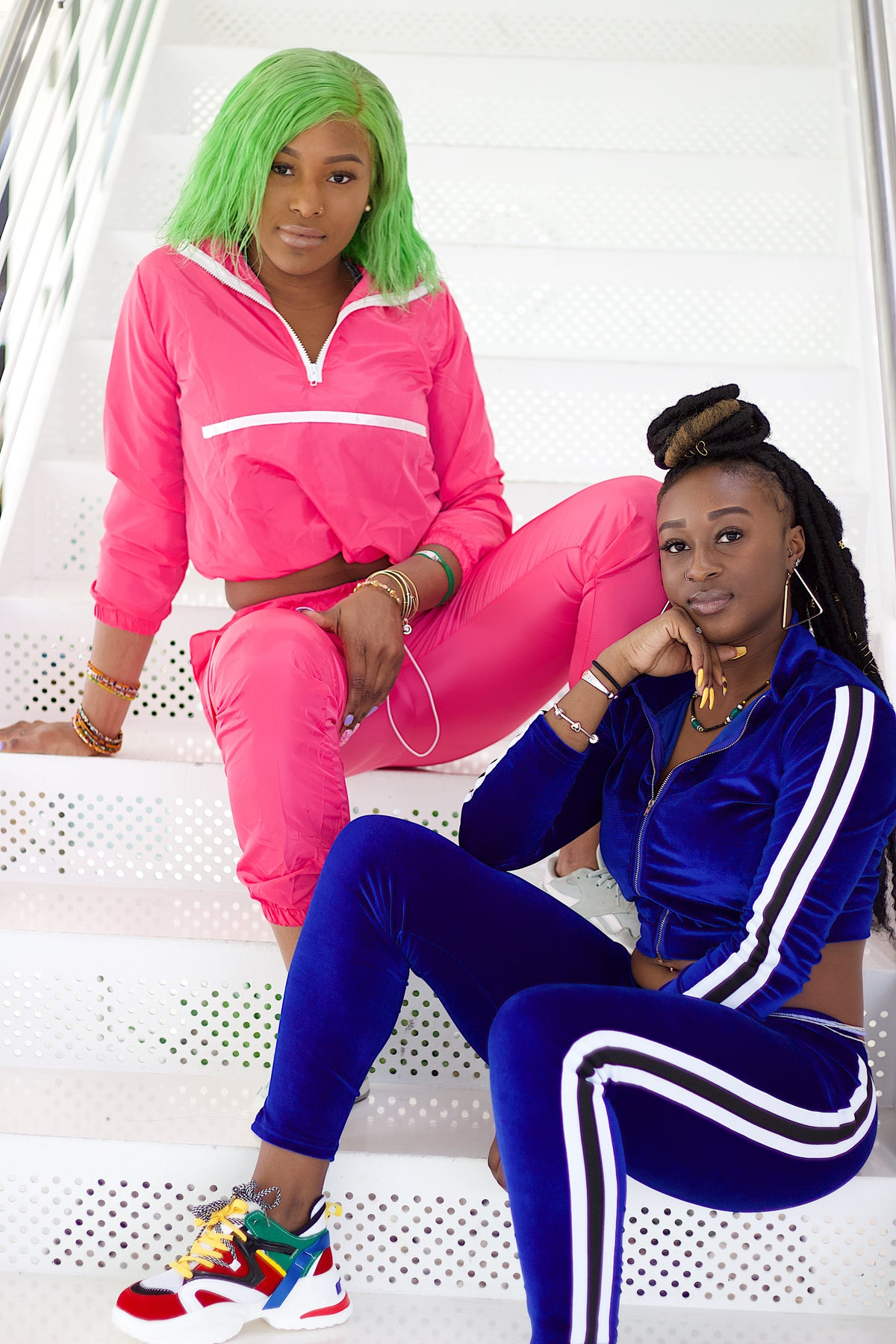 Image of Neon Pink Two Piece Set