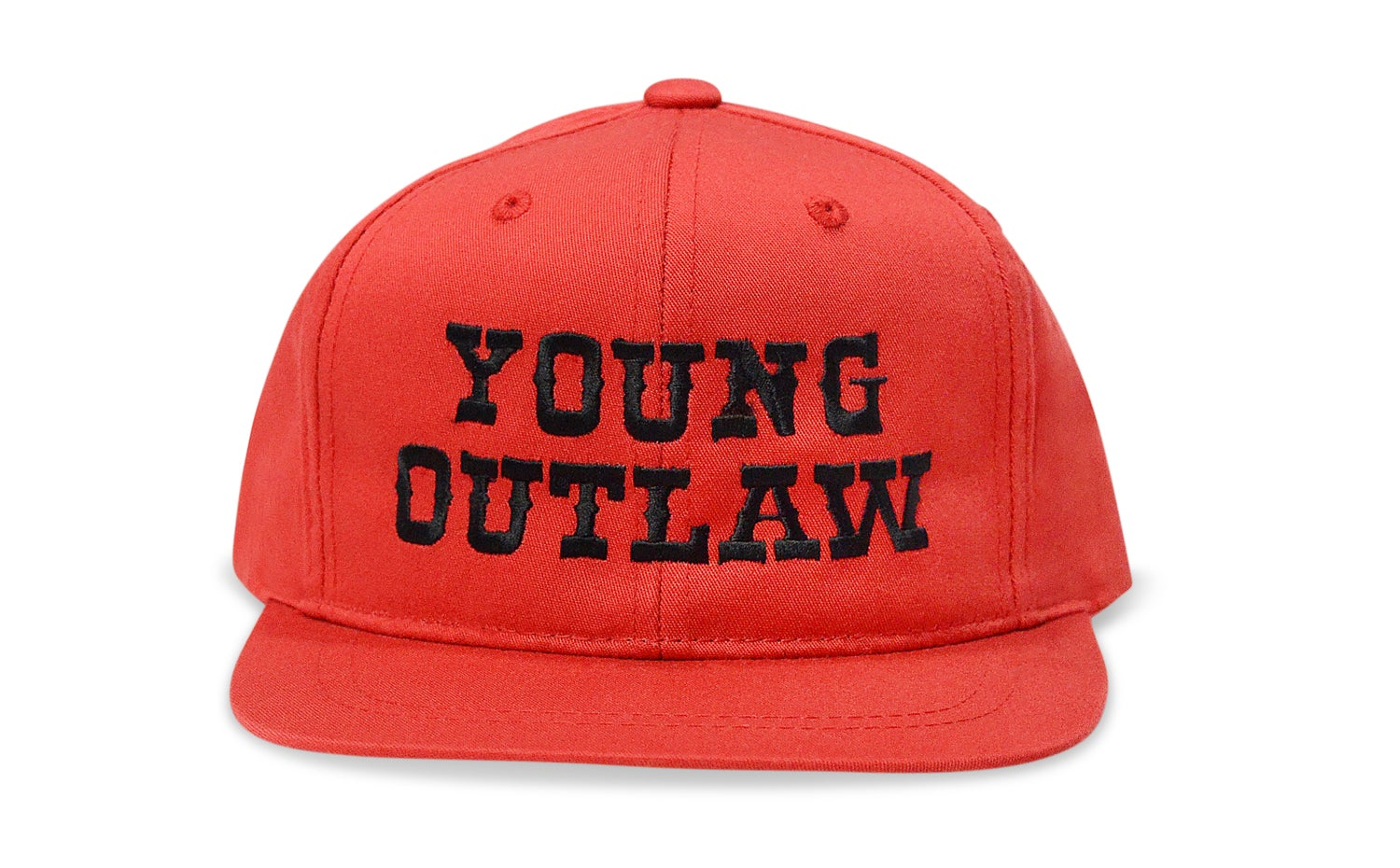 Image of YOUNG OUTLAW (RED/BLACK) - KIDS SNAPBACK
