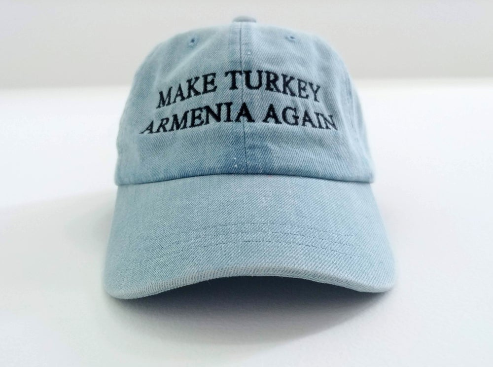 Image of Make Turkey Armenia Again hat - Ararat Blue