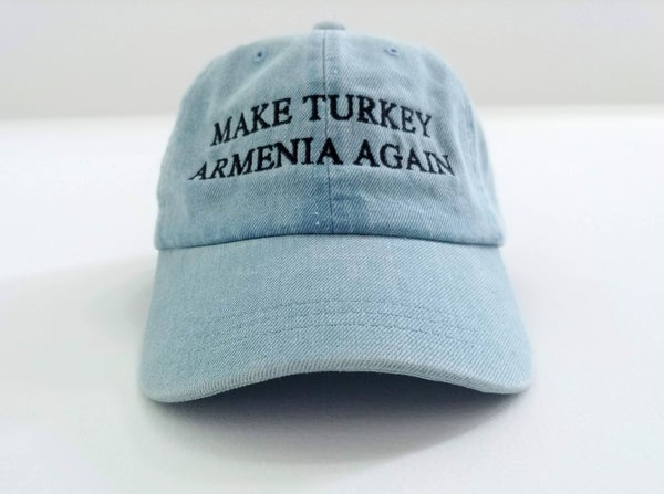 Image of Make Turkey Armenia Again hat - Ararat Blue