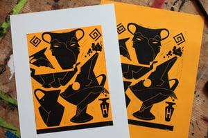 Image of Linocut print SUN