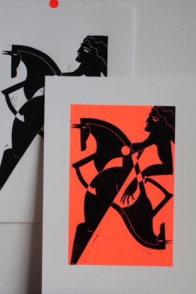 Image of Lino cut prints HORSES