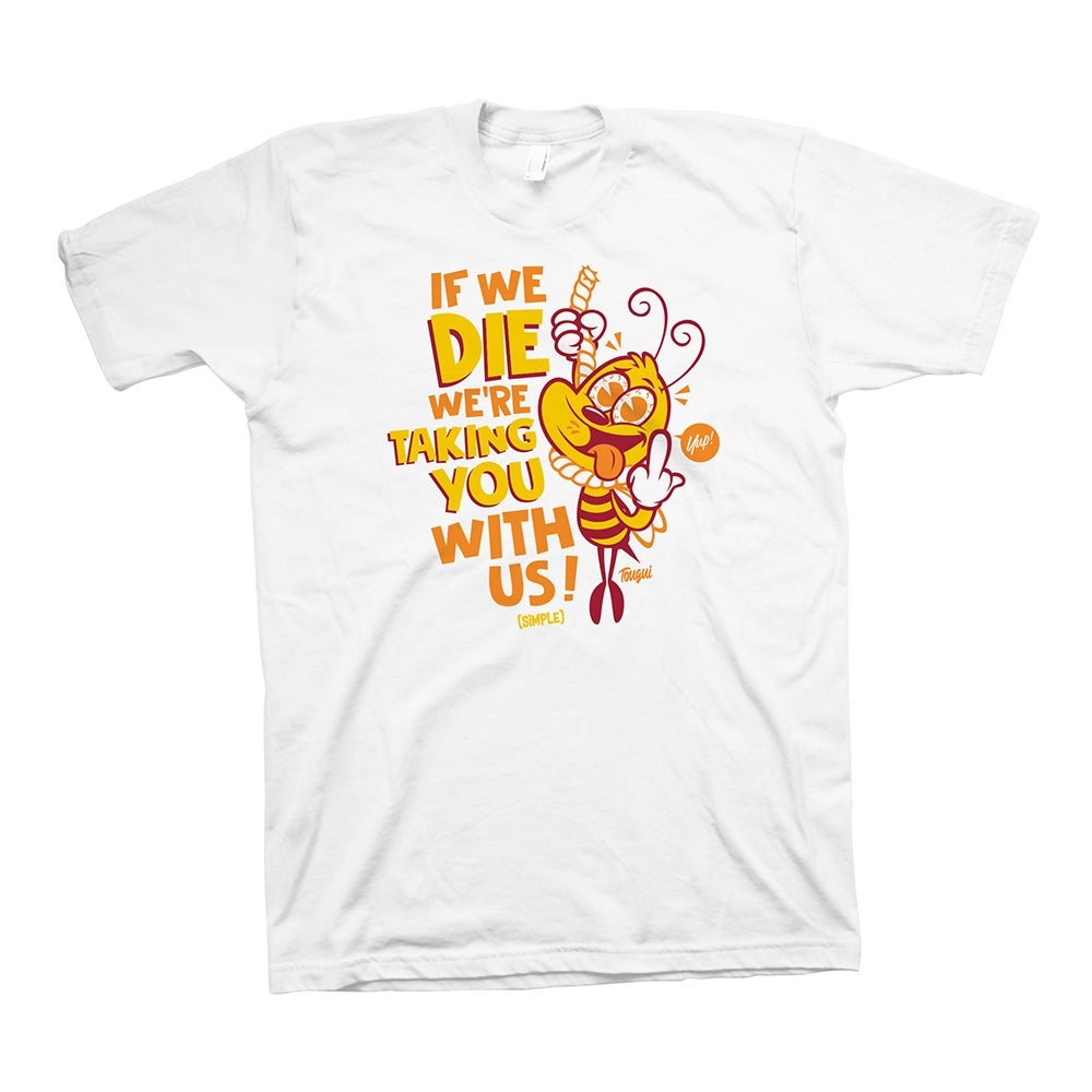 Image of BEEEE T-SHIRT - ORGANIC WHITE