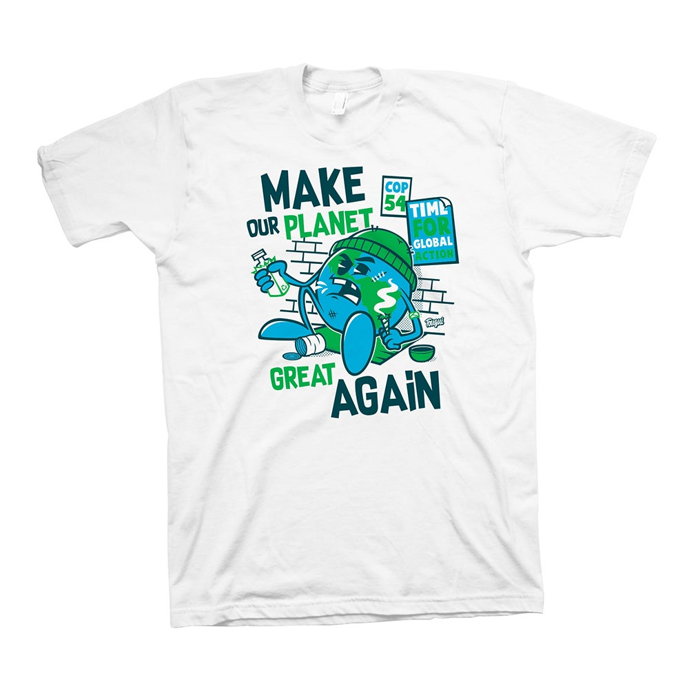 Image of GREAT AGAIN T-SHIRT - ORGANIC WHITE
