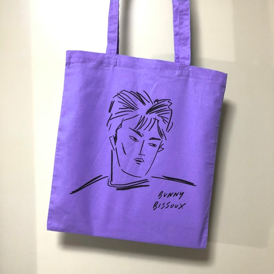 Image of BUNNY BISSOUX - BOY - TOTE BAG - PURPLE