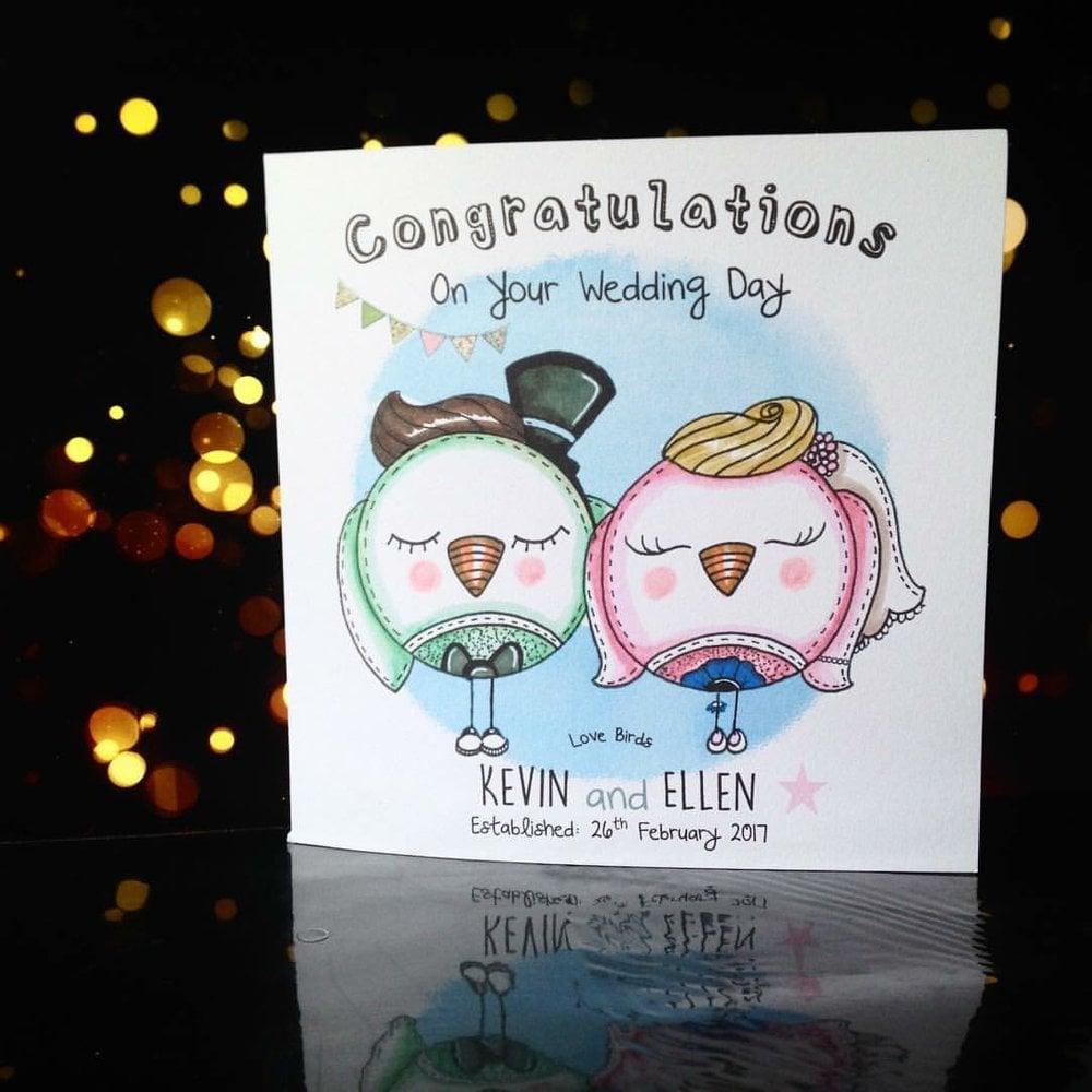 Image of Love Birds Wedding Card