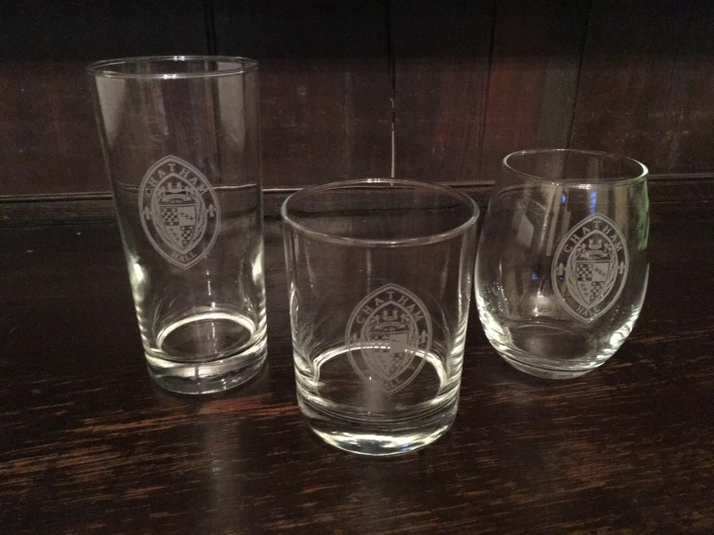 Image of CH Etched Glasses set of 4