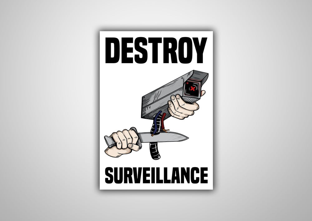 "Image of 100 Autocollants ""DESTROY SURVEILLANCE"""