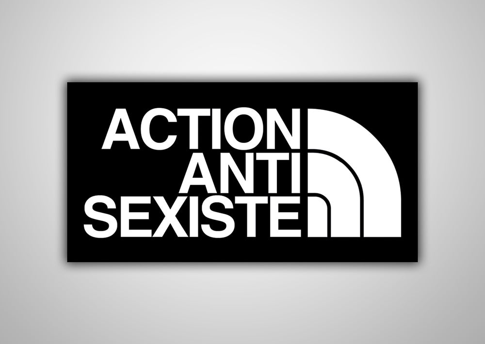 "Image of 100 Autocollants ""ACTION ANTI SEXISTE"""