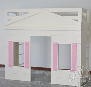 Image of Simplicity Solid Wood Playhouse loft bed