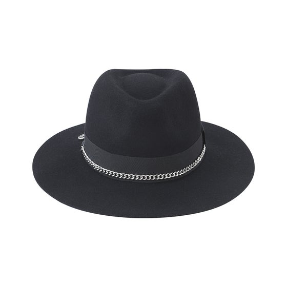 f754d8df Image of BLACK or GREY FEDORA HUASO Steel MIX BLACK & SILVER