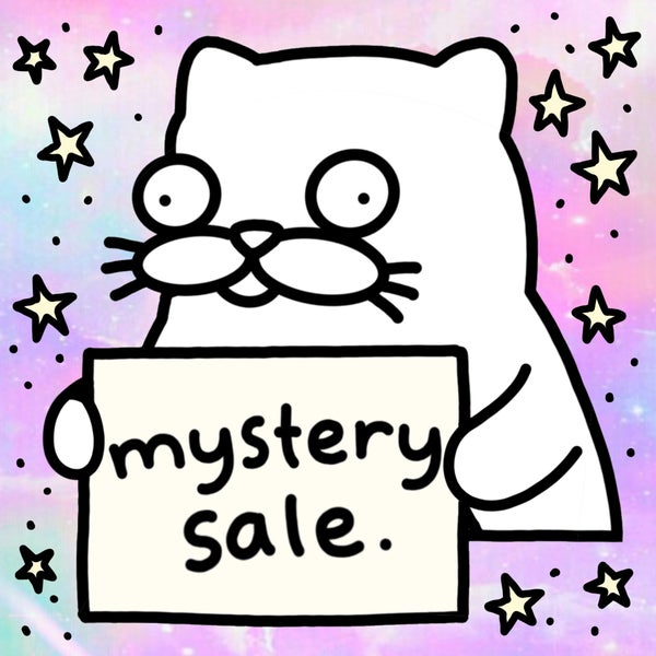 Image of The mystery print and sticker sale